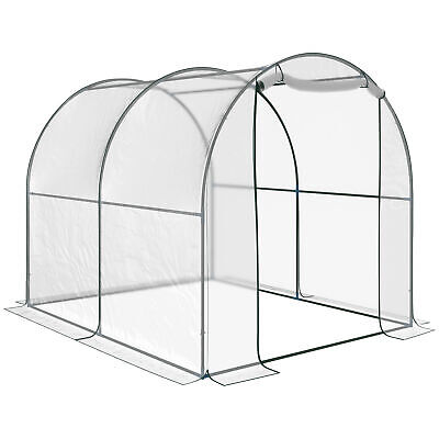 Outsunny Transparent PVC Tunnel Greenhouse Grow House Steel Frame 2 X 2.5 X2M • 50.99£