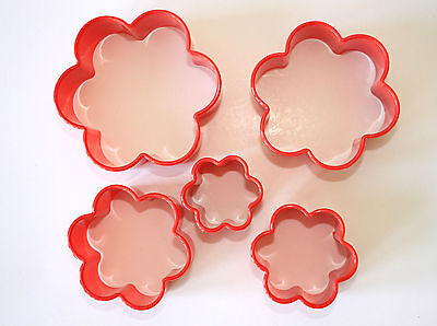 Blossom Cutters, Set Of 5, Pastry, Biscuit, Fondant Plastic Cutters • 4.50£