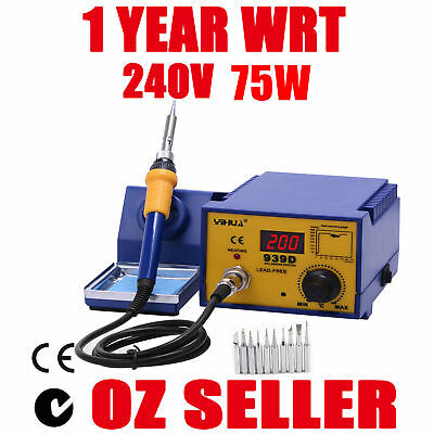 AU89.99 • Buy SOLDERING IRON STATION For YH939D LEAD FREE ESD Japanese Heating Element 75W
