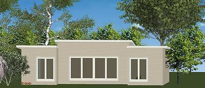 AU25085 • Buy 3 Bedroom DIY Granny Flat Kit The Escape 69.9m2 For Your Slab - CGI Wall Sheets