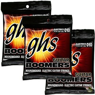 $ CDN21.68 • Buy 3 Sets GHS Electric Boomers GBL Light Nickel-Plated Steel Guitar Strings (10-46)