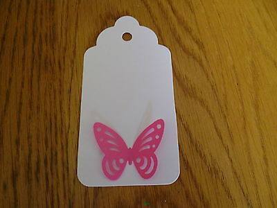 12 Pearlescent Lace Butterfly Large Name Place Gift Tags Card Favour Wish Tree • 1.99£