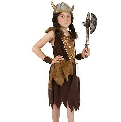 £13.50 • Buy Childrens Viking Girl Fancy Dress Costume Girls Book Day Outfit By Smiffys