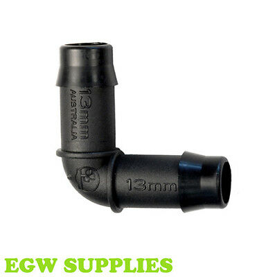 13mm Elbow Barbed Irrigation Pipe Soaker Hose Fitting Antelco Hozelock Claber • 6.99£
