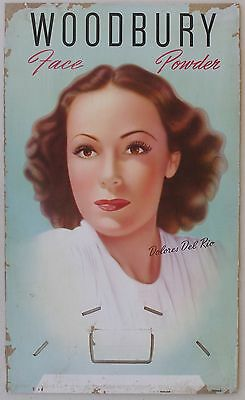 Dolores Del Rio For Woodbury Face Powder, Advertising Sign, 1940's • 154.32£