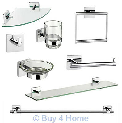 Croydex Chester Flexi-Fix - Chrome Wall Mounted X Plate Bathroom Accessories • 14.45£