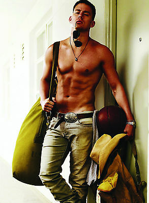 Channing Tatum Topless Giant Poster - A0 A1 A2 A3 A4 Sizes • 10£