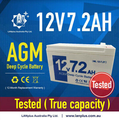 AU26.59 • Buy New 12V 7.2ah SLA AGM Battery For Home Alarm System Toy Car NBN Auto Gate >7Ah