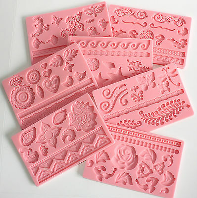 £5.99 • Buy Moulds, 7 Designs Of Silicone Moulds To Choose From, Sugarcraft, Cake Decorating