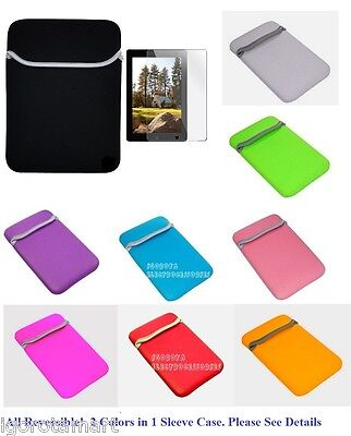 Soft Sleeve Pouch Case For IPad Mini Amazon Kindle Fire HD Nexus 7 Tablet • 2.99£