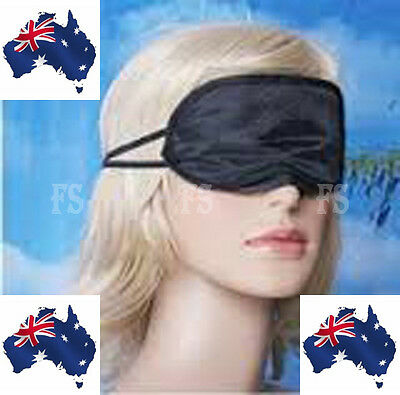 AU2.95 • Buy Travel Eye Mask Soft Sleeping Sleep Cover Nap Rest Blindfold (black) New