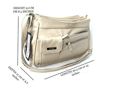 AU29.99 • Buy Multiple Compartment Handbag With Adjustable Shoulder Strap. Colour: Taupe. 3265