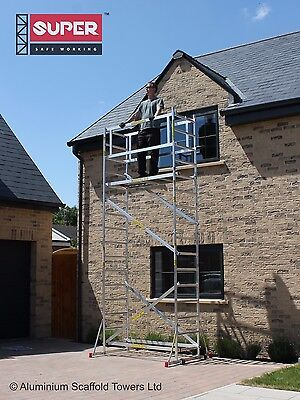 £512.21 • Buy Super DIY 5.2M (3 In ONE) - Aluminium Scaffold Towers, 1m Frames, One Man Tower