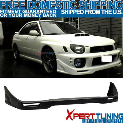 $124.99 • Buy Fit For 02-03 Subaru Impreza WRX STI Front Bumper Lip Unpainted - PU