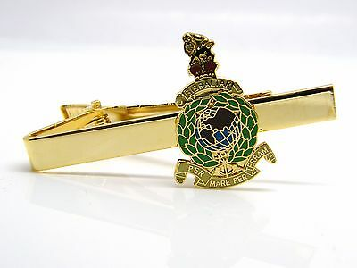 £9.99 • Buy The Royal Marines Badge Tie Clip Pin Slide Navy Military Gift In Box