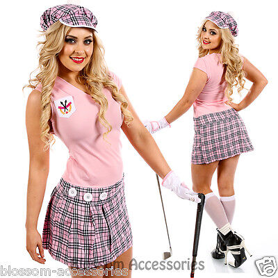 I80 Womens Pub Golf Sports Fancy Dress Costume Ladies Hen Night Golfer Outfit • 20.58£