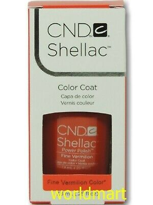 AU18.85 • Buy CND Shellac GelColor UV/LED #90624_ Fine Vermilion 0.25fl.Oz