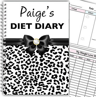 £6.99 • Buy Personalised A5 Diet Diary /planner/ Food Diary/ Weight Loss/ Slimming Log Book