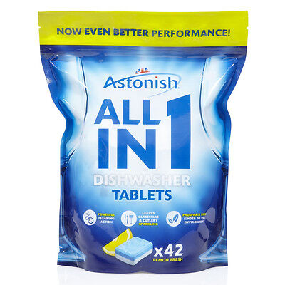 Astonish All In 1 Dishwasher Tablets Lemon From BULK OFFERS! 500 Tablets • 11.99£
