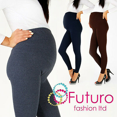 £6.75 • Buy Thick Heavy & Warm MATERNITY Cotton Leggings Full Ankle Length Sizes 8 - 22