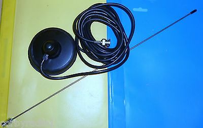£18.50 • Buy TAXI METER MAG MOUNT ANTENNA BNC COMPLETE 100mm BLACK  RUBBER BASE  VHF UHF7