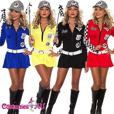 AU26.50 • Buy Sexy Miss Indy Super Car Racer Racing Sport Driver Grid Girl Fancy Costume