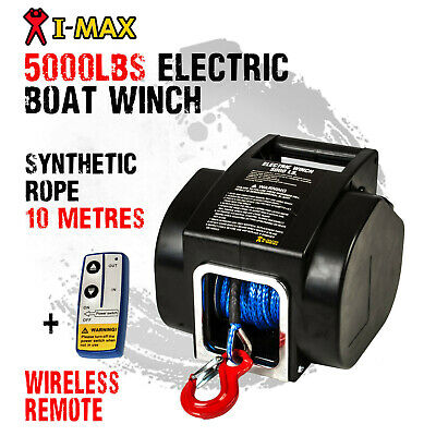 AU229 • Buy I-MAX 12V 5000LBS Portable Electric Synthetic Rope Boat Winch Trailer ATV 4WD4x4
