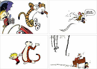 Calvin And Hobbes Poster Set Of 4 - A4 A3 A2 Sizes • 7£