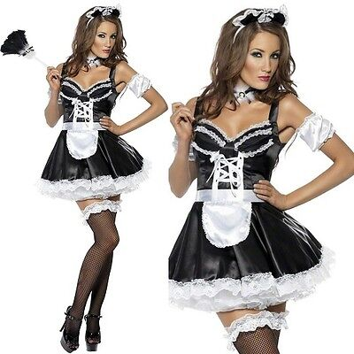 £27.99 • Buy Ladies Flirty French Maid Fancy Dress Costume Womens Outfit By Smiffys