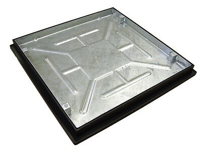 Recessed Manhole Cover With Frame 600 X 600 X 46mm Sealed And Locked T16G3 • 79.95£