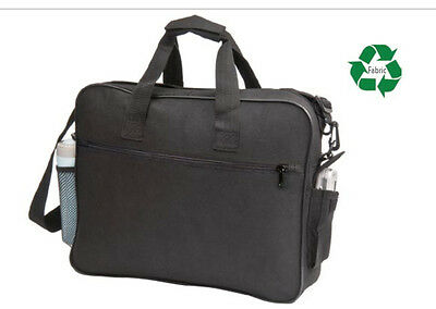 $4.98 • Buy Recycled Laptop Portfolio, Briefcase Organizer Bags Light Weight Book File Bag