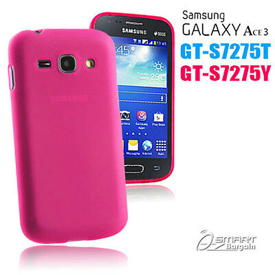 £2.70 • Buy Pink Matte Gel Case For Samsung Galaxy ACE 3 S7275 T 7275 Y Jelly Soft Cover +SG