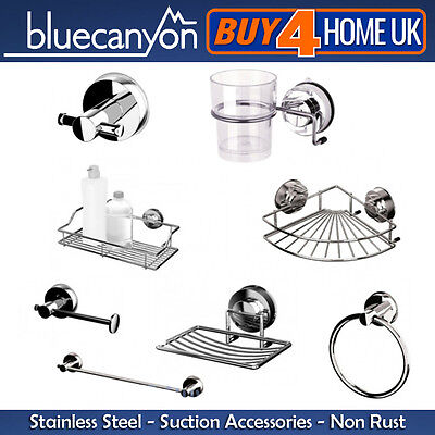 Blue Canyon Stainless Steel Gecko Suction Bathroom Accessories - No Rusting! • 30£