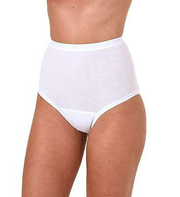 £8.99 • Buy Ladies Black Or White Incontinence Washable Briefs With Cotton Pad S M L XL XXL