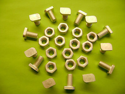 50 ALUMINIUM GREENHOUSE CROPPED HEAD 11MM BOLTS AND NUTS See Also W + Z CLIPS • 6.99£