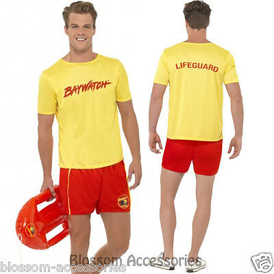 £20.57 • Buy CL176 Baywatch Men's Beach Costume Party Top Short Licensed Costume Outfit