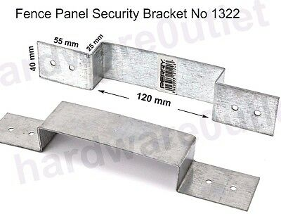 Fence Panel Security BRACKET No 1322 Anti Rattle Concrete Or Wooden Fence Posts • 17.45£