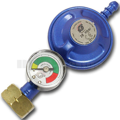 Butane Gas Regulator With Pressure Gauge Fits Calor Gas 4.5kg • 12.49£