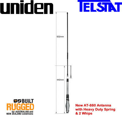 AU99 • Buy UNIDEN AT-880 6.6dB + 3.0dB UHF CB  Twin Heavy Duty Antenna Kit  Suit All UHF CB