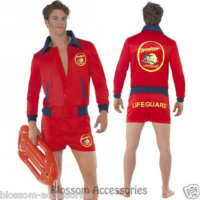 £27.03 • Buy CL178 Baywatch Lifeguard Costume Short Jacket Licensed Beach Costume Outfit