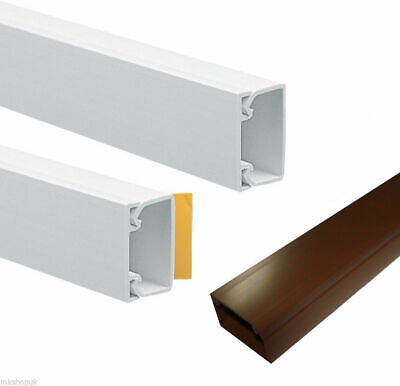 £6.99 • Buy Self Adhesive Mini Trunking White Brown Electrical Cable Conduit Wire Channel