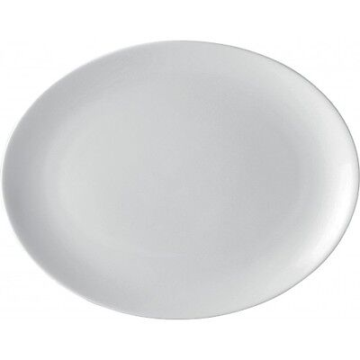 White Oval Plate - 14  - Porcelain Plates - 5 Year Edge Chip Warranty - Box Of 6 • 39.39£