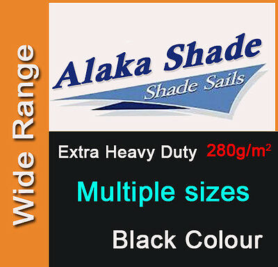 AU68.90 • Buy Extra Heavy Duty Shade Sail Shade Cloth Black Sun Triangle Square Rectangle Dark