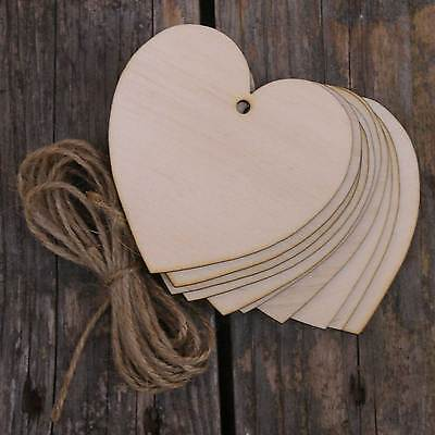 10x Wooden Curvaceous Heart Craft Shape 3mm Ply • 4.99£