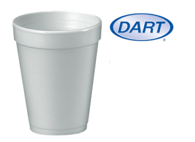 White Disposable Polystyrene Cups Insulated Hot Cold Tea Coffee 7oz 10oz 12oz • 10.49£