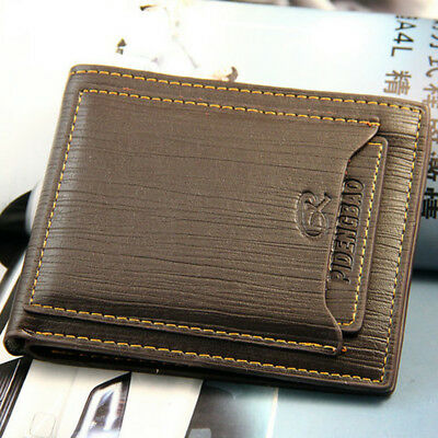 $6.39 • Buy Fashion Men's Bifold Leather Wallet ID Credit Card Holder Billfold Purse Clutch