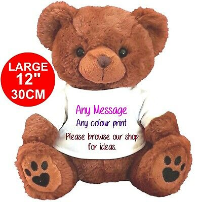 £11.99 • Buy Personalised Teddy Bear Brown 30CM/12  MANY DESIGNS BIRTHDAY ANY OCCASION