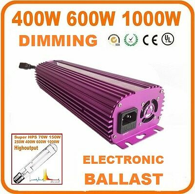 Q-style HPS/MH 400W 600W 1000W Dimmable Digital Grow Light Ballast • 152.18£