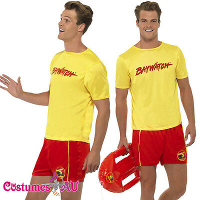 £18.01 • Buy Mens Baywatch Lifeguard Costume Licensed Beach Swimming Party 80s Fancy Dress