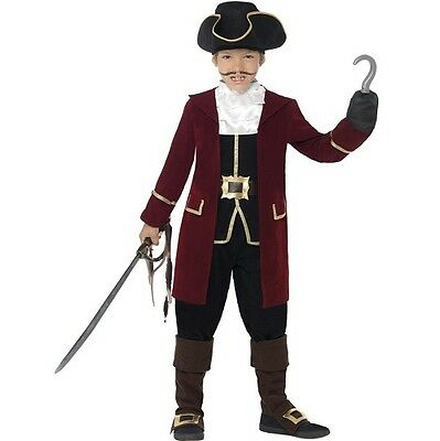 £16.50 • Buy Childs Deluxe Pirate Captain Fancy Dress Costume Childrens Outfit By Smiffys